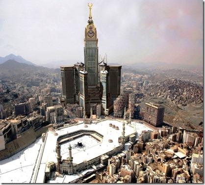 Gambaran Artis Berkomputer tentang bangunan dan Kaabah